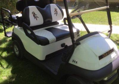 Rembourrage de kart de golf à Delson-Candiac - Rembourrage Canevas Excellence (rembourreur Rive-Sud)